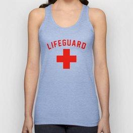 Lifeguard Red & White Certified Swimming Pool Unisex Tank Top