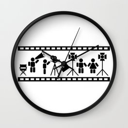 Making of a movie illustration Wall Clock