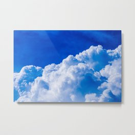 White clouds in the blue sky Metal Print
