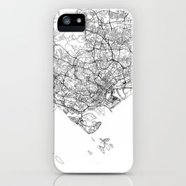 Singapore White Map iPhone Case