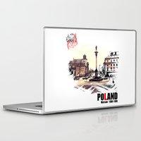 poland Laptop & iPad Skins featuring Poland, Warsaw 1890-1900 by viva la revolucion