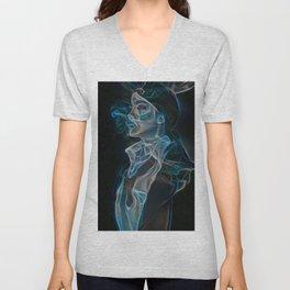 Smokin' Woman | AI-Generated Art Unisex V-Neck
