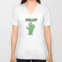 yolo V-neck T-shirts featuring Yolo? by theDesign Attic