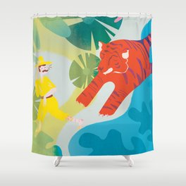 The Tyger Part 2 Shower Curtain