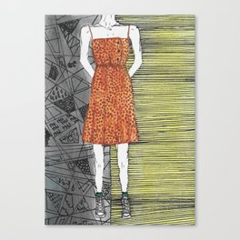 The girl in the dress. Canvas Print
