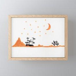 Yellow desert Framed Mini Art Print