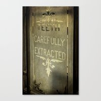 dentist Canvas Prints featuring Victorian Dentist Sign by Adrian Evans