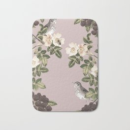 Birds and the Bees Pink Berry Bath Mat