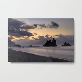 Golden Hour sunset in Benijo beach Metal Print