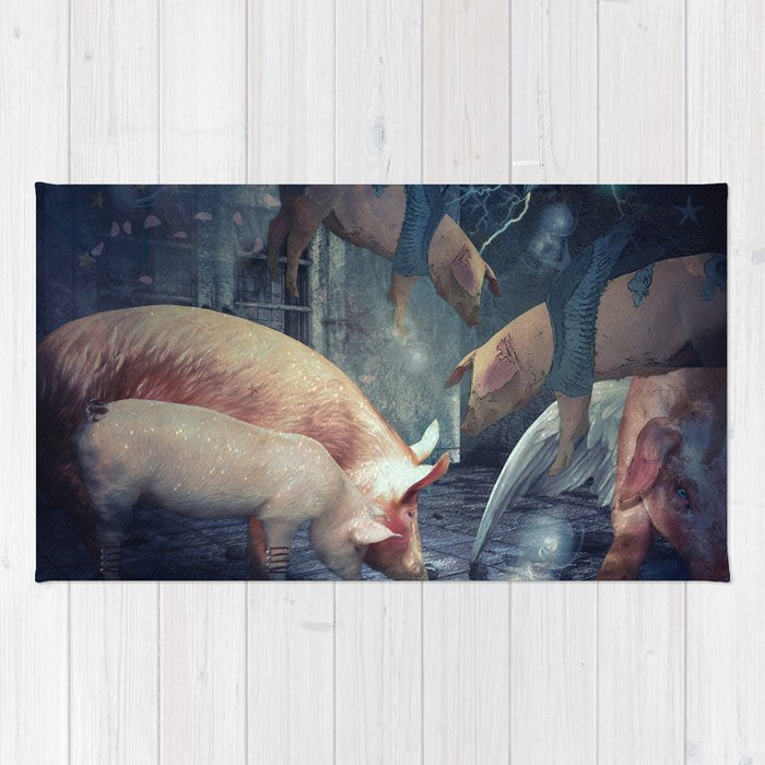 When Pigs Fly Rug