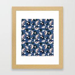 Japanese carps Framed Art Print