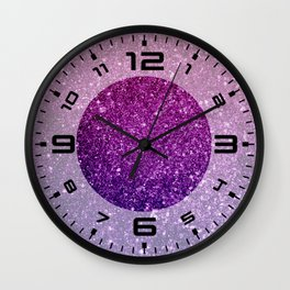 Ombre glitter #8 Wall Clock