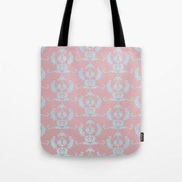 Damask Print Dark Tote Bag