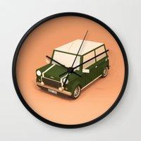 mini Wall Clocks featuring Mini Lowpoly by Nestor Ramos