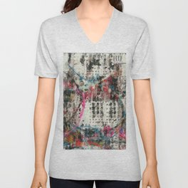 Analog Synthesizer, Abstract painting / illustration Unisex V-Neck