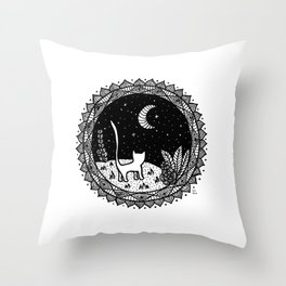 Because the Moon belongs to Cats Throw Pillow