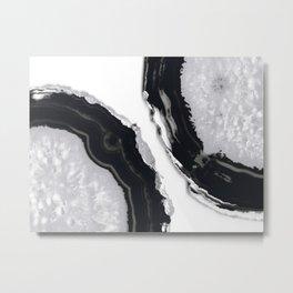 Gray Black Agate #6 #gem #decor #art #society6 Metal Print