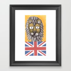 British Lion Framed Art Print