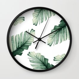 Tropical Banana Leaves Dream #8 #foliage #decor #art #society6 Wall Clock