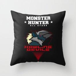 Monster Hunter All Stars - Howling Devils Throw Pillow