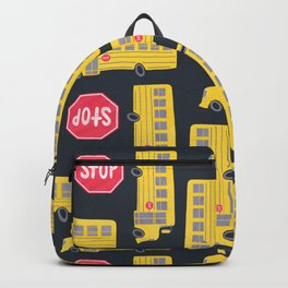 Bus Pattern Backpack