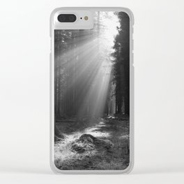 Into the Light in Monochrome Clear iPhone Case