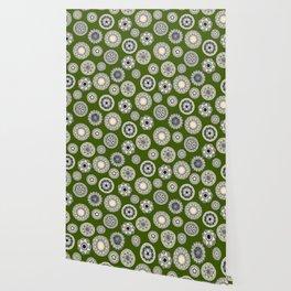 mandala cirque spot green Wallpaper