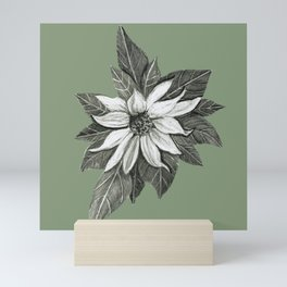Florida Flower with Green Background Mini Art Print