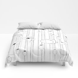 Poppy Sketch Comforters