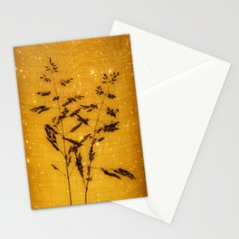 Delicate grasses - light and shadow #5 Stationery Cards