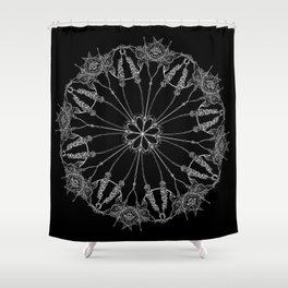 Flower Lace Shower Curtain