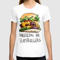 hamburger T-shirts featuring Hamburger by Let's Make Food Babies