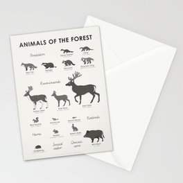 Animals of the Forest Stationery Cards
