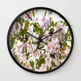 April Blossoms Wall Clock