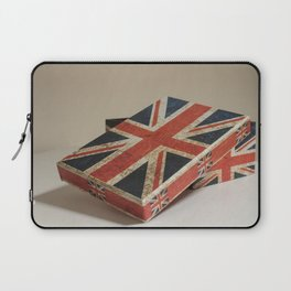 Cardboard box consumed with the British flag Laptop Sleeve