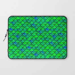 Green Blue Scales Laptop Sleeve