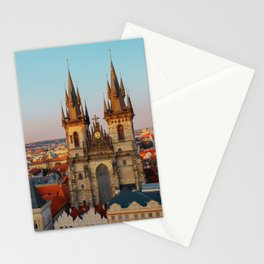Orange Roofs of Prague Stationery Cards