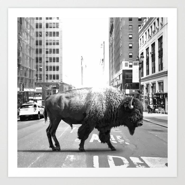 STREET WALKER Art Print