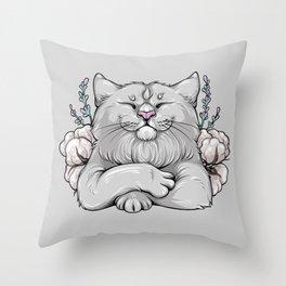 Cotton cat Throw Pillow