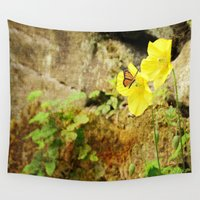 poppies Wall Tapestries featuring Poppies by Fine Art by Rina