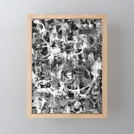 FLUO NERO Framed Mini Art Print