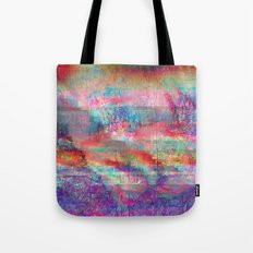 23-18-45 (Acid Rain Bed Glitch) Tote Bag
