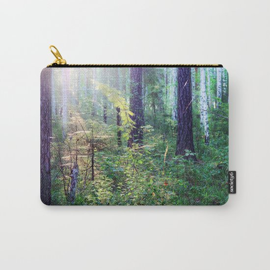 Sunny morning in the forest Carry-All Pouch