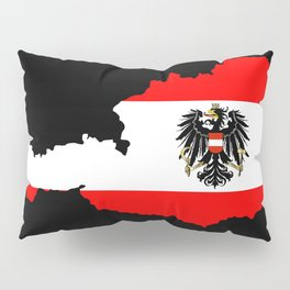 Austrian Flag and Map Pillow Sham