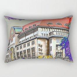 Shopping in Berlin Rectangular Pillow