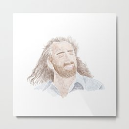 This is Nicolas Cage in the movie Con Air Metal Print
