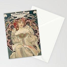 Alphonse Mucha - F. Champenois Imprimeur-Editeur, 1898 Stationery Cards