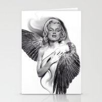 marylin monroe Stationery Cards featuring Marylin by Gianluca Fascetto Tattooer Painter