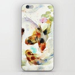 Watercolor Koi Pond iPhone Skin