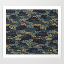 Green Leopard Camouflage Art Print